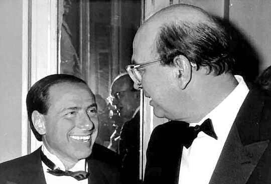 Silvio Berlusconi e Bettino Craxi nel 1984